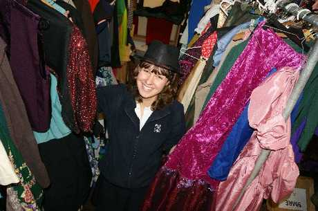 Lydia Verschaffelt is right at home in the costume room at Tauranga Girls' College.