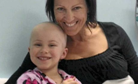 Ella while in chemotherapy treatment with her grandmother Debbie Styles. Ella is responding to the treatment and the tumour is being reduced.