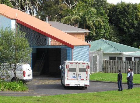 COMPARISON: A prison wagon arrives at Kaitaia District Court for James Parker, who was remanded in custody until November 15.