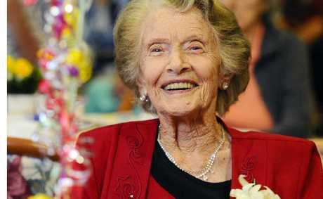 Wyn Jefferies celebrated her 100th birthday at The Dougherty Villa in the company of family and friends yesterday.