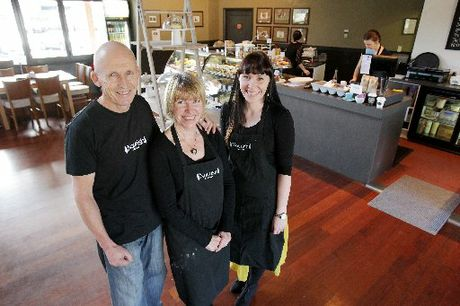 Janet and Ian Walker and Carly Ward say business is going gangbusters at Nourish Cafe in Te Puna.