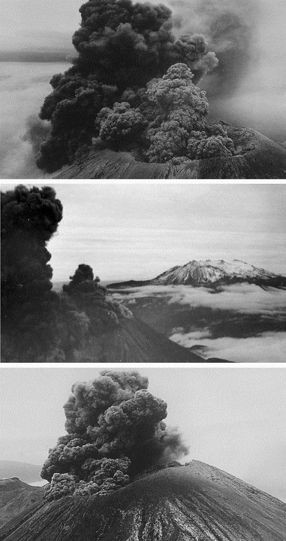 Tauranga businessman and photographer, Alf Rendell, now retired, took these spectacular shots of a Mount Ngarahoe eruption in February 1949.