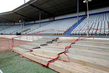 Hundreds of children were sitting on a temporary stand at Baypark Stadium when it partially collapsed.