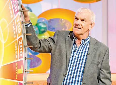 SPINNER WINNER: A Hastings man, known only as Terry, won $200,000 on the Lotto Winning Wheel on Saturday night, contributing to nearly half a million dollars won by Hawke's Bay residents at the weekend. PHOTO/SUPPLIED