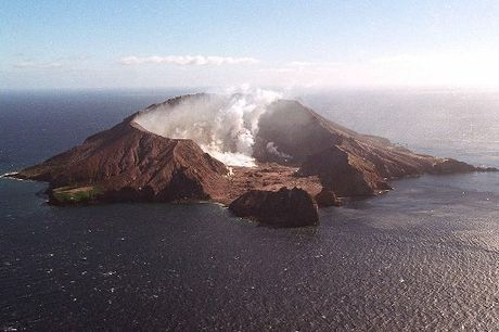 A decrease in volcanic activity at White Island has seen the aviation colour code lowered to yellow.