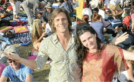 People gathered at Peregian for Peregian Originals music with event founder Jay Bishoff and president Anita Sweeney.