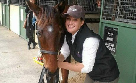 PERFECT JOB: Helen Boyes is living her dream working with thoroughbred horses on Canning Downs.