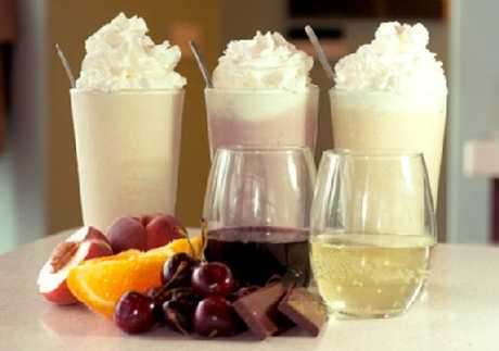 Only in the US will you find wine milkshakes.