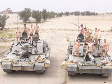Images from the Facebook page 'Support Prince Harry with a naked salute!'.