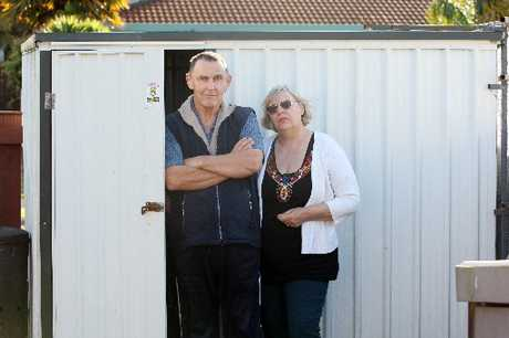Mike and Fiona Pilcher are worried thieves targeted their garden shed because they are deaf.