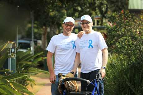 Matthew Shield (left) and Ken Farrow are organising the 'Walk for Carmel' which will be held on September 2 at Mapleton. Photo: Cade Mooney / Sunshine Coast Daily