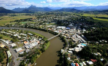 Aerial view of the 'heart' of Tweed Shire - Murwillumbah.