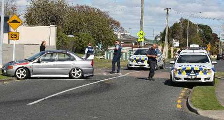 A man jumped out of his car and ran away from police in Mt Maunganui.