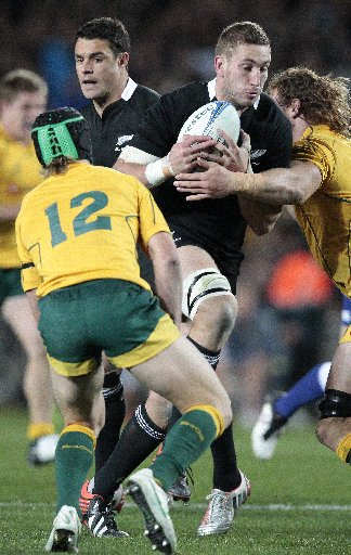 LOCKED IN: Luke Romano has quickly become an important man for the All Blacks.