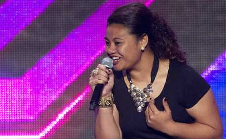 Valencia Fesolai belts out Natural Woman on the hit TV talent show.
