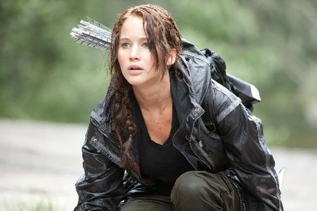 Jennifer Lawrence plays a teenager fighting to the death in The Hunger Games.