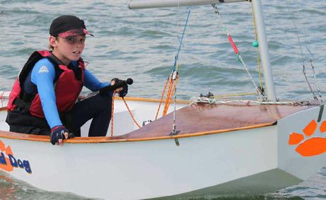 This year's cold, wet winter across the region didn't stop young sailor Vince Fuller enjoying plenty of time on the water in the Whitsundays.