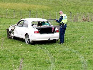 A 16-year-old emerged unscathed from a Hawke's Bay accident yesterday morning