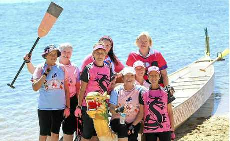 Dragonboat competitors celebrate life and a great day on the water.