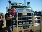 "Sha'leigh and Alan 'Shiny' Miners stand in front of Too Fat a '93 Kenworth ""full noise truck"" which is beautiful to drive says Alan. at the Big Banger Truck Show, Rosewood Qld. Photo Carly Morrissey / Big Rigs"