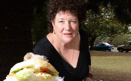 Mary Hurst is collecting leftover food from a local bakery to give to the homeless of Ipswich.