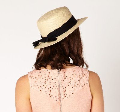 Boater hat with bow, $24.99 from Glassons.