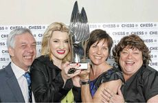 Winners of 2012 Clarence Valley Business Excellence Awards overall award, Stephen Jolly, Amelia Fell, Agneta Hansell and Beverley Parrott of Complete Staff Solutions, celebrate their victory.