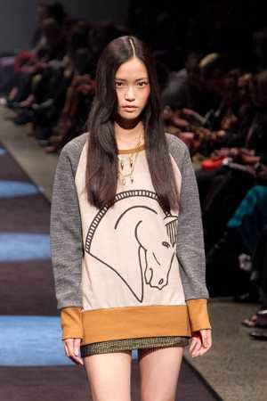 Highlights from the Adrian Hailwood show at New Zealand Fashion Week 2012.