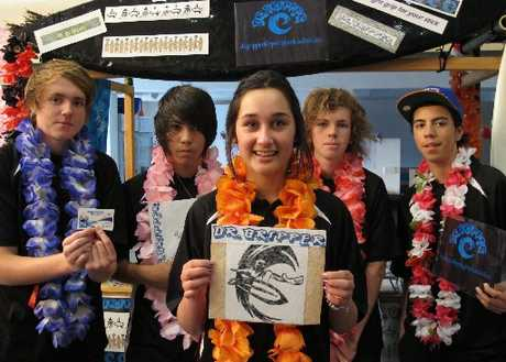 Jamie Plowman (left), 15, Takou Bay; Titouan Lamouric, 14, Cable Bay; Cheyanne Donnelly, 15, Kerikeri; Mathew Carr, 15, Kerikeri; and Chance August, 16, Kaikohe, Dr Gripper members.