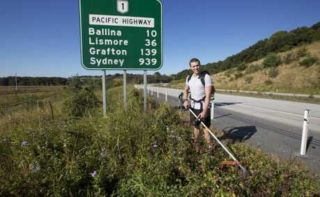 Coolangatta local Trent Chapman is whipper-snippering his way from Brisbane to Sydney to raise funds for two important charities.