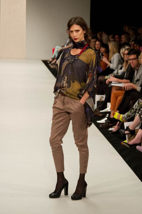An outfit from Deryn Schmidt's debut solo show at New Zealand Fashion Week on September 5, 2012.