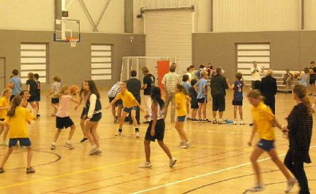 HEAVY USE: THE first night's junior basketball competition at the Byron Regional Sports Centre.