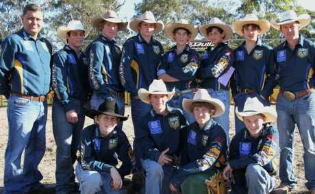 TOP TEAM: St Brendans College challenge rodeo team had a clean sweep at the competition.