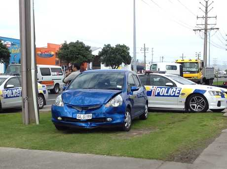 Emergency services attended a minor crash on Totara St