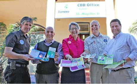 HOW TO VOTE: The candidates in the running to be mayor of Lismore: (from left) Greg Bennett, Gianpiero Battista, Jenny Dowell, Graham Meineke and Neil Marks.