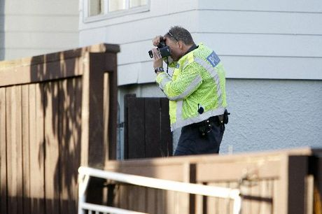 Police investigate the scene of a firearms discharge at Onerahi, Whangarei. Photo / Michael Cunningham