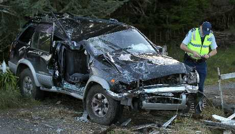 A 78-year-old man had to be cut free from the wreckage of his vehicle after he hit a power pole late yesterday afternoon.
