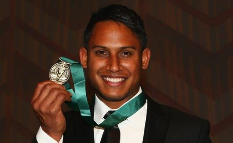 Ben Barba poses with the Dally M Medal at the 2012 NRL Dally M Awards at Sydney Town Hall on September 4, 2012 in Sydney, Australia.