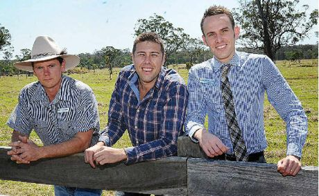 James Hansen, Brett Hore and Daniel Sanderson check out the Timbers Reserve in Maryborough.