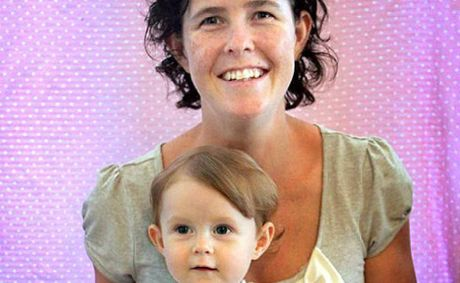 Alison Rodgers with her baby, Roma. Ms Rodgers used a sperm donor and fertility clinic to create her family.