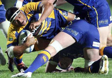 Steamers captain Tanerau Latimer in action against Otago.
