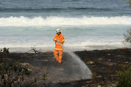 Fires on the sand dunes at Cabarita.