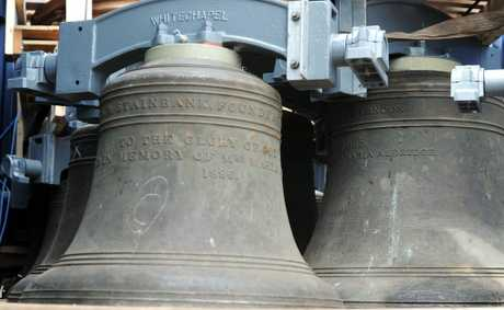 St Paul's Church Bells Appeal Committee publicity officer Ian Miles says the restoration process cost more than $100,000.