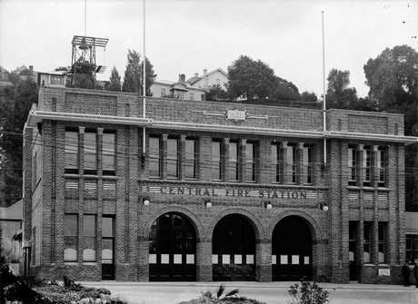 MOVED IN 1924: The Napier Fire Brigade building. PICTURE SUPPLIED BY THE ALEXANDER TURNBULL LIBRARY HTTP://TIMEFRAMES.NATLIB.GOVT.NZ/
