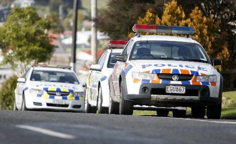 Armed Police stopped a vehicle on Maunganui Rd.