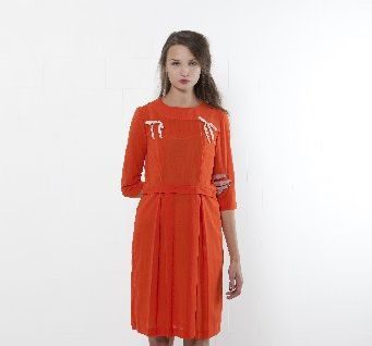 Anika dress in lobster