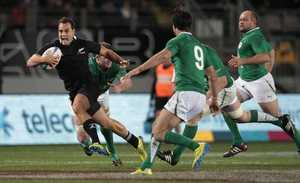 RATTLE YOUR DAGGS: All Blacks fullback Israel Dagg in action against Ireland
