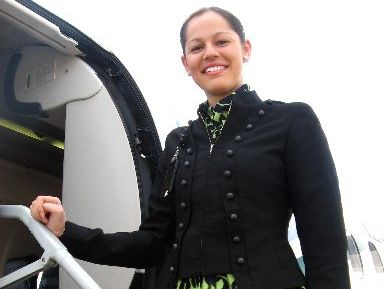 EIT graduate Danielle Randell has taken a post at Hawke's Bay Airport after completing an internship at Los Angeles International Airport. Photo / Supplied