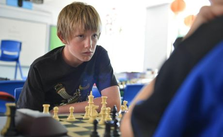 Gladstone Chess Club tournament at St John's Primary School, J Hickey Avenue, Gladstone. Aaron Fahey. Photo Christopher Chan / The Observer