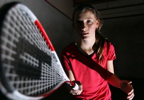 FIT AND READY: Rosemary Mair, 13, will be the youngest member of the Hawke's Bay club's team at the Hastings-hosted E grade squash nationals which start today.